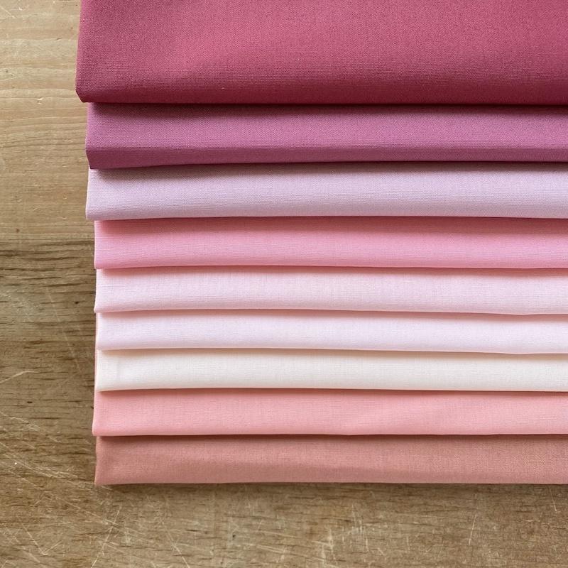 Art Gallery Fabrics Pure Solids Pink Fat Quarter Bundle