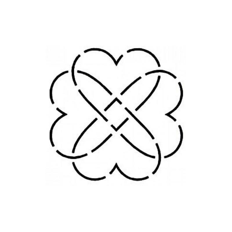 Quilt Stencil Heart Knot