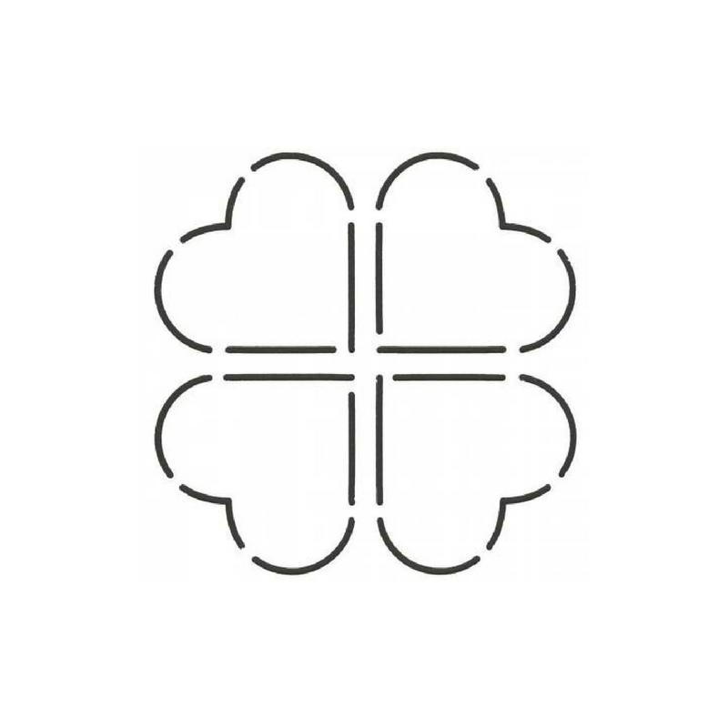 Quilt Stencil Square Heart