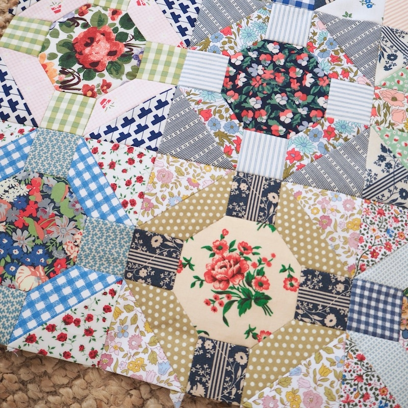 Rose Window EPP quilt pattern and kit by Jessie Fincham