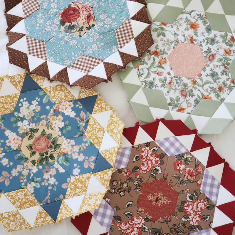 Rosette Rings, English Paper Piecing quilt club