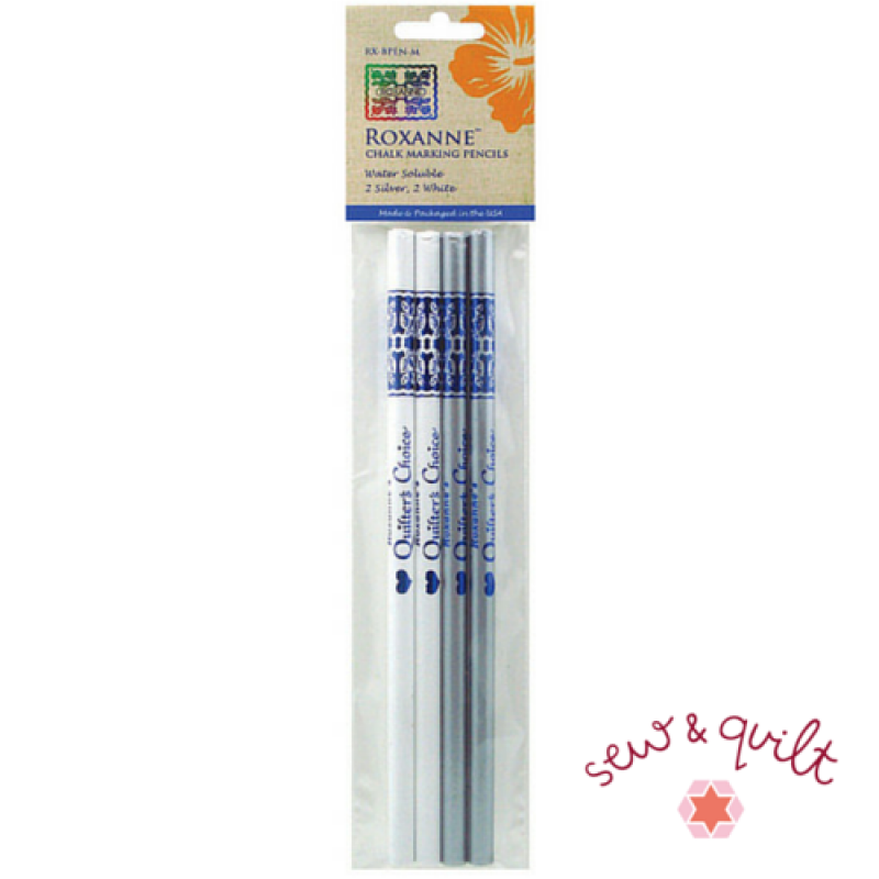 Roxanne-Quilters-Choice-Chalk-Marking-Pencils-WhiteSilver-UK