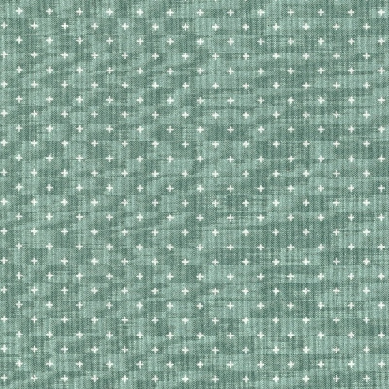 Ruby Star Society white crosses on teal quilting cotton