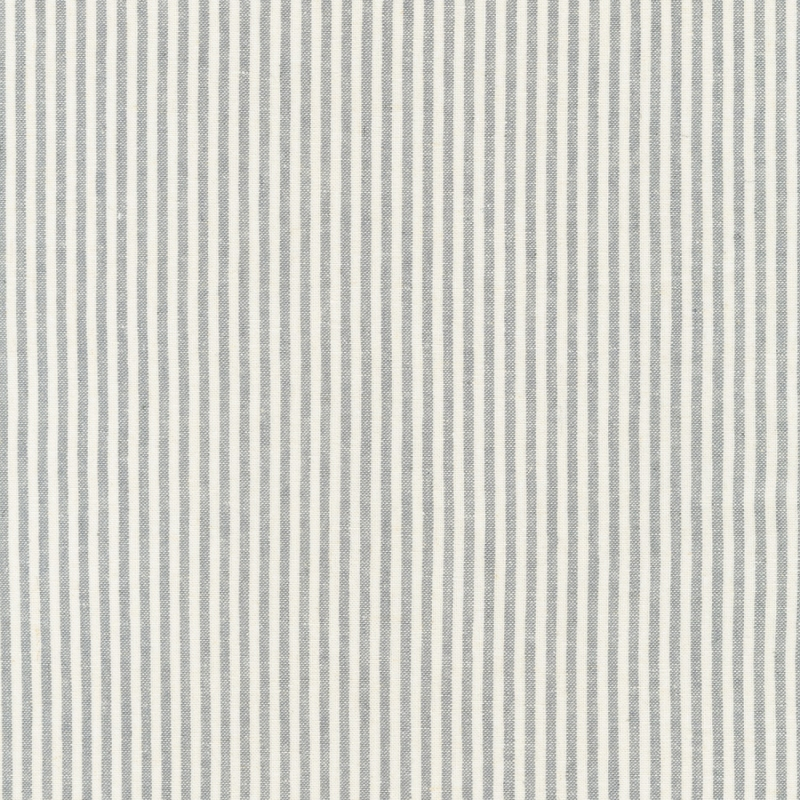 Essex Linen Yarn Dyed Classic Wovens Stripe Grey | 17587-185