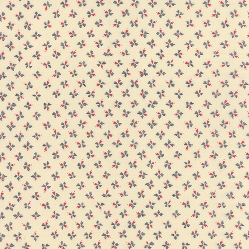 Silver Linings Cream Red Pinwheel