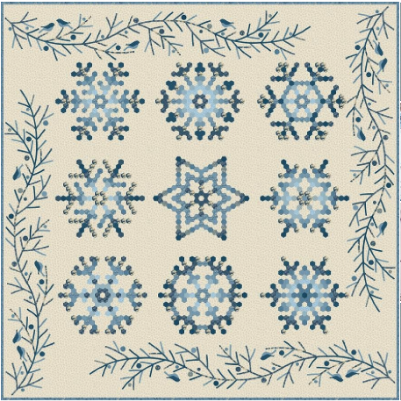 Snowflake Quilt Pattern by Edyta Sitar of Laundry Basket Quilts