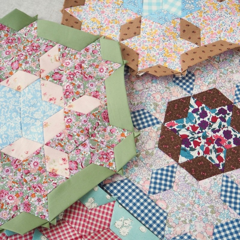 Spinning Stars block of the month club by Jessie Fincham for Sew and Quilt