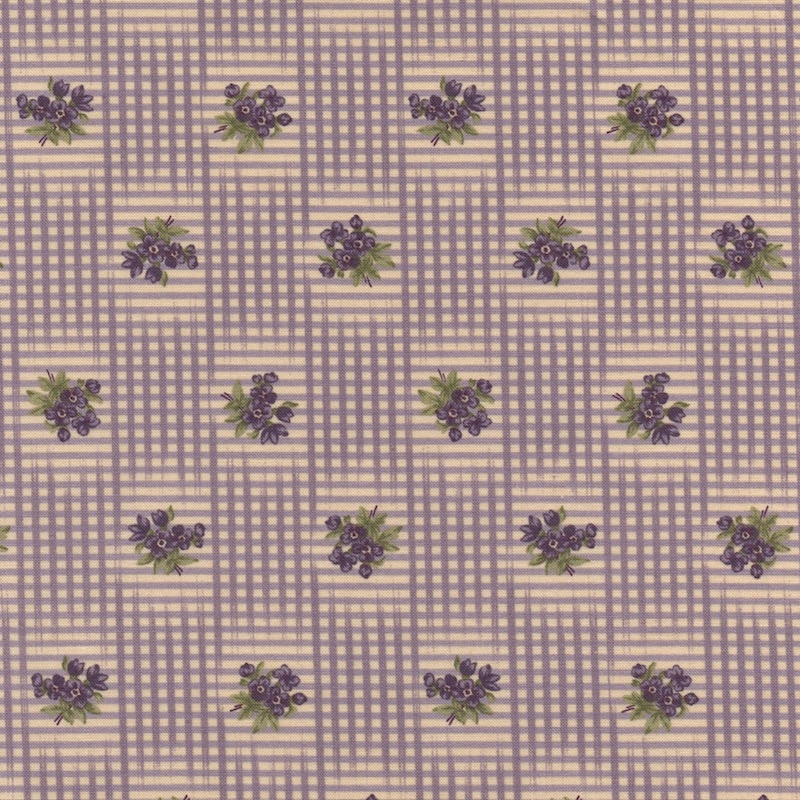 Sweet Violet Ivory Lilac 2222 11 by Jan Patek for Moda Fabric