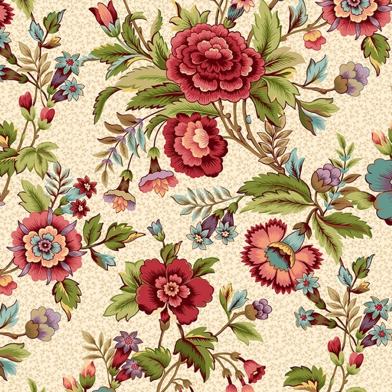 Tarrytown Cream Floral   2597-33