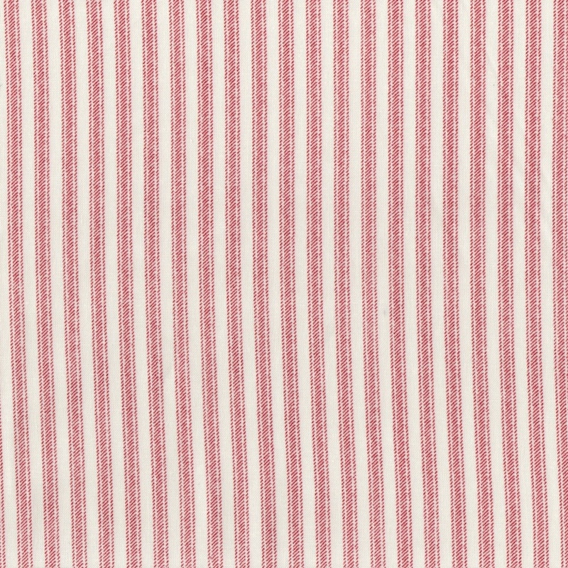 Ticking-Stripe-quilting-cotton-red