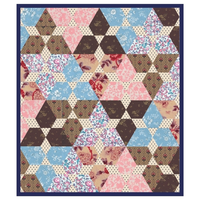 English paper Piecing pattern Triangle mini quilt