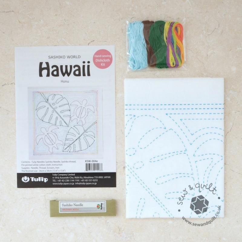 Tulip Sashiko Sewing Kit, Hawaii - Honu