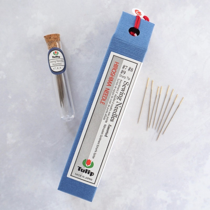 Tulip Hiroshima hand sewing needles assorted sizes