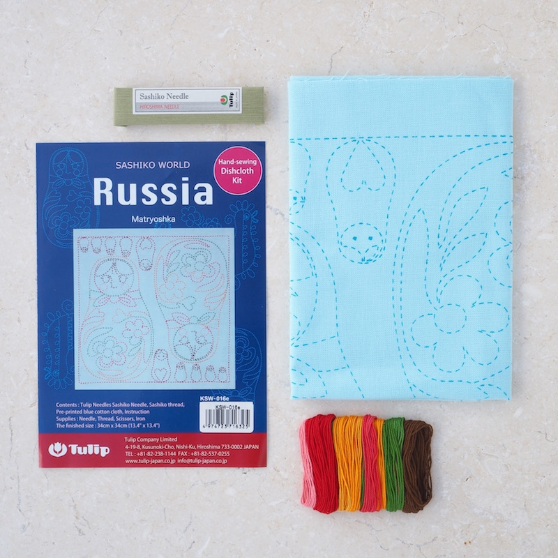 Tulip-Sashiko-sewing-kit-Russian-Matryoshka
