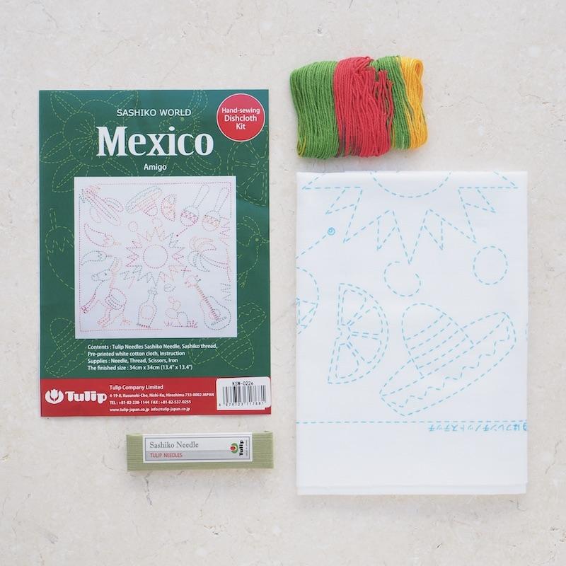 Tulip Sashiko Kit, Mexico - Amigo
