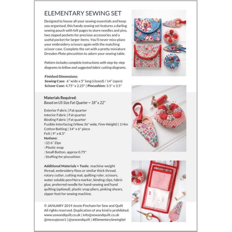 Elementary Sewing Set Pattern By Jessie Fincham | Sew & Quilt