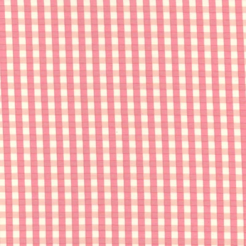 Yuwa-Fabric-Gingham-Pink