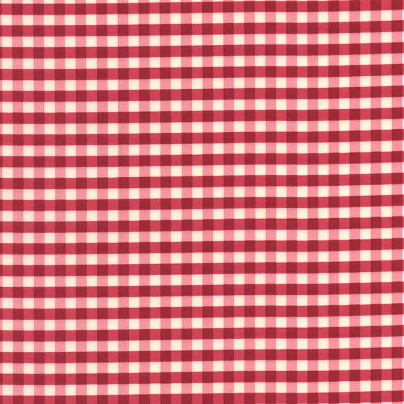 Yuwa-Fabric-Gingham-Red