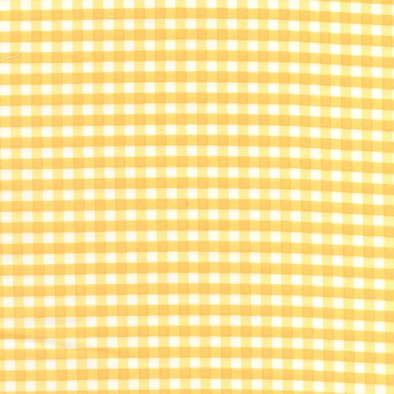 Yuwa-Fabric-Gingham-Yellow
