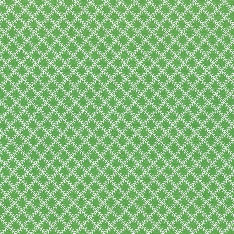 Aunt Grace's Apron Green Leaf Trellis | 0760-0114