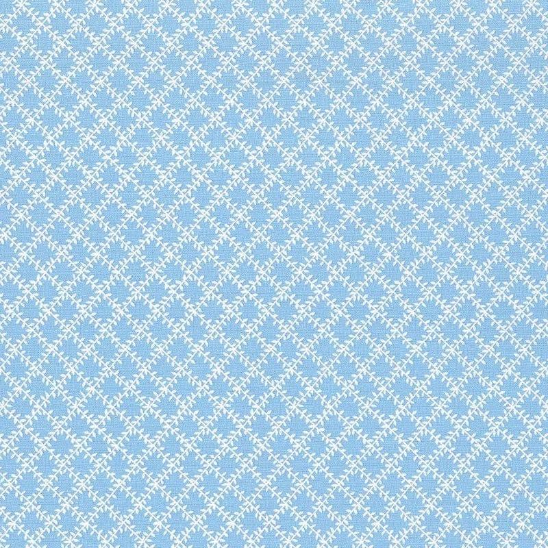Aunt Grace's Apron Blue Leaf Trellis | 0760-0122