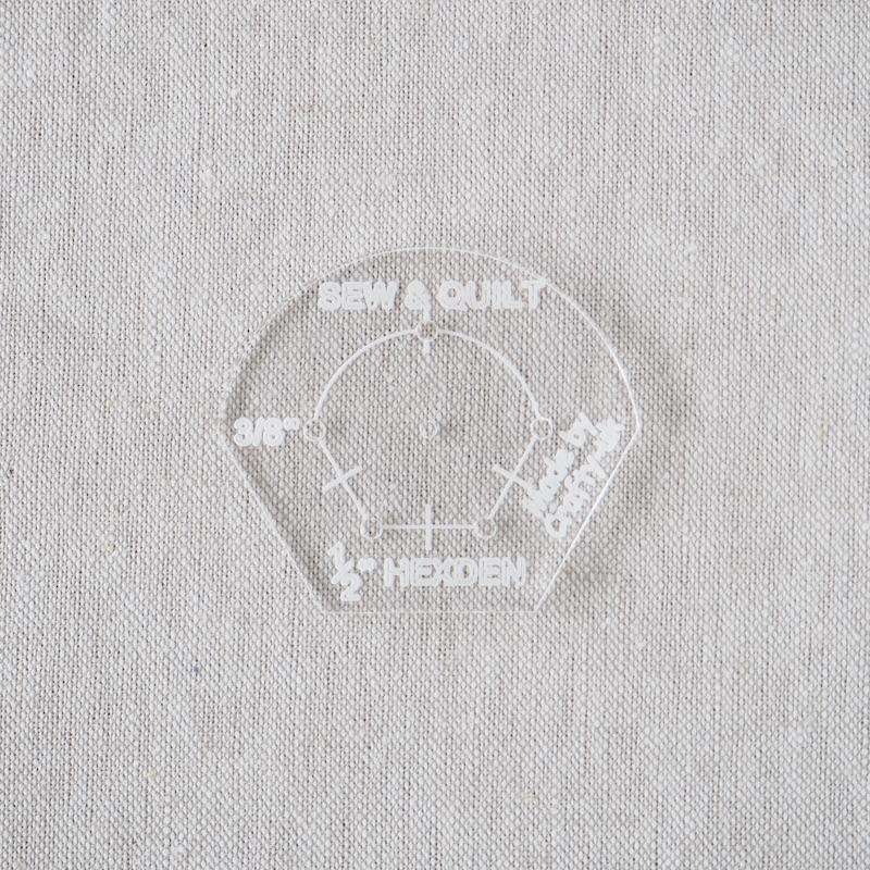 "Acrylic Cutting Template 1/2"" Hexagon Petal"