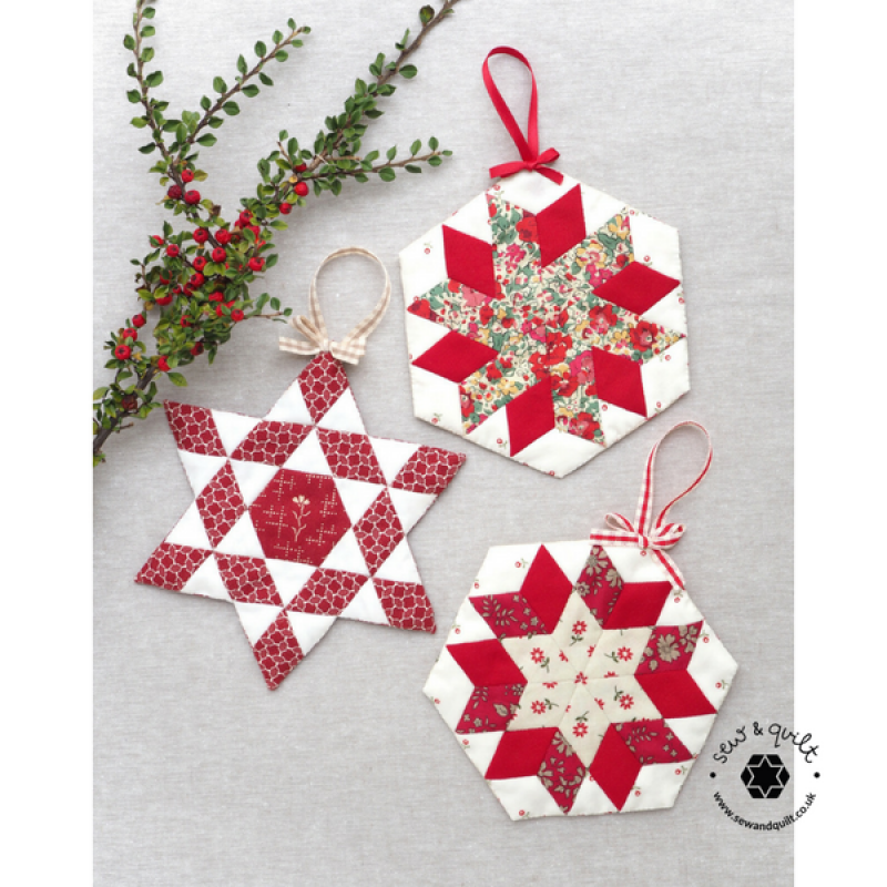 Shining Star Ornaments Pattern Paper Pieces Sew Quilt